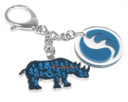 Family Pack 4 Pieces - Water Blue Rhinoceros Hum Keychain
