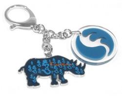 Water Blue Rhinoceros Hum Keychain