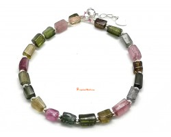 Watermelon Tourmaline Fashion Bracelet