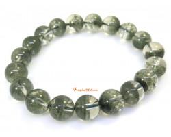 Wealth Bowl Green Phantom Crystal Bracelet (10mm)