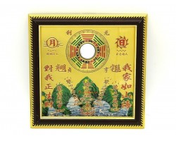 Wealth Inviting Bagua Mirror with Mountain and Sea