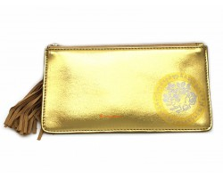 Wealth Wallet with Wealth-Spouting Mongoose in Gold