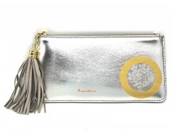 Wealth Wallet with Wealth-Spouting Mongoose in Silver
