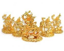White Dzambhala with Four Dakinis set