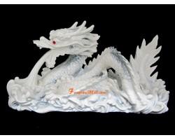 White FengShui Dragon for Abundance