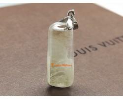 White Phantom Quartz Crystal Pendant