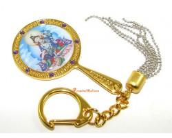 White Tara Mirror Keychain