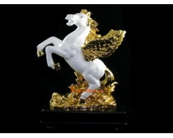 White Victory Winged Horse for Accelerated Success