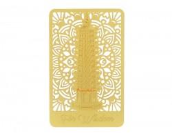 Wisdom Pagoda Gold Talisman Card