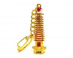 Wisdom Pagoda Keychain