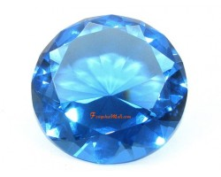 Wishfulfilling Jewel (Blue) for Career Opportunities and Good Health 80mm