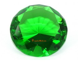 Wishfulfilling Jewel (Green) for Good Income and Success 80mm