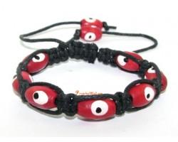 Wood Evil Eye Adjustable Bracelet to Ward of Bad Luck