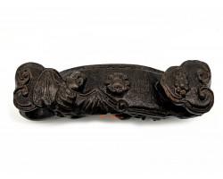 Wooden Ruyi with Bat and Pi Yao