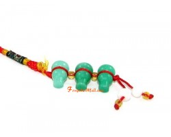 Three Wu Lou Health Jade Charm