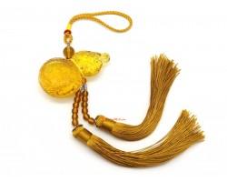 Yellow Liuli Feng Shui Wulou Tassel