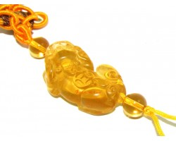 Liuli Good Fortune Piyao Hanging (Yellow)