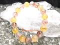 Red and Yellow Phantom Quartz Bracelet