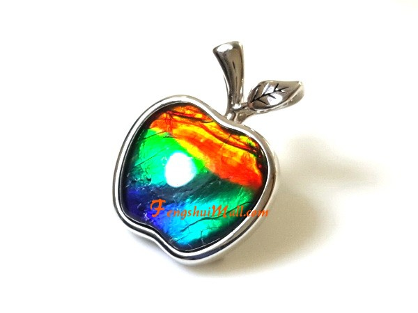 e08bba585ef61a Canadian Ammolite Apple Pendant with 925 Silver Frame :: Feng Shui ...