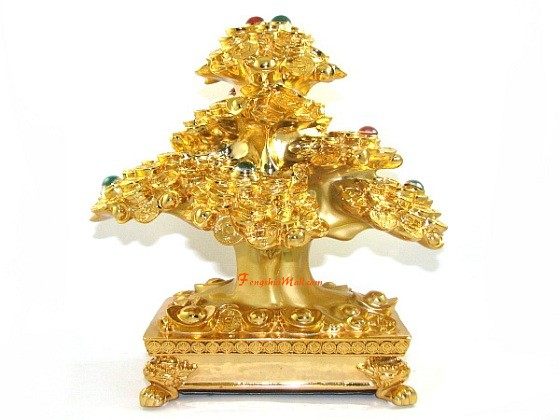 Extravagant Bejeweled Golden Wealth Inviting Money Tree Online Feng Shui Shop