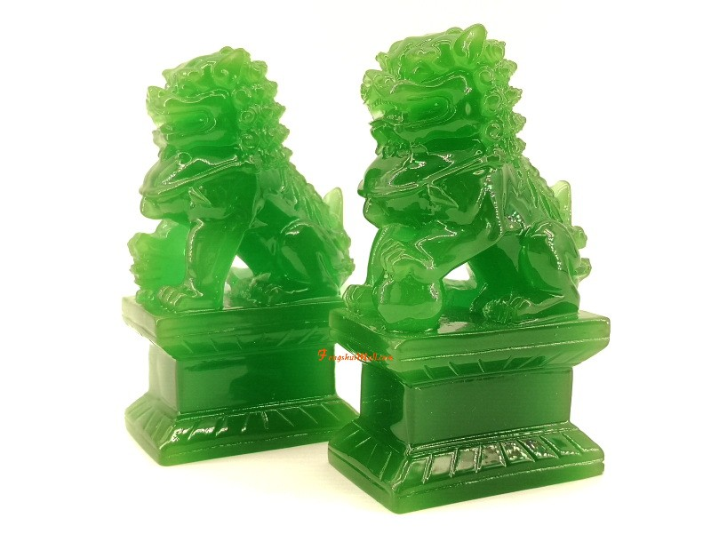 Pair Of Feng Shui Fu Dogs Chinese Protection Symbol