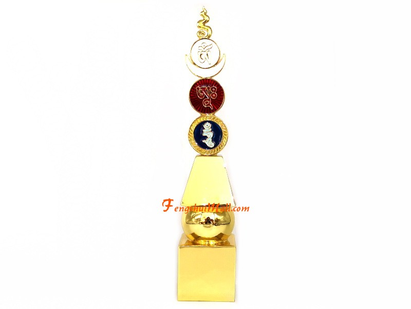 Feng Shui 10 Inch Five Element Pagoda With Om Ah Hum