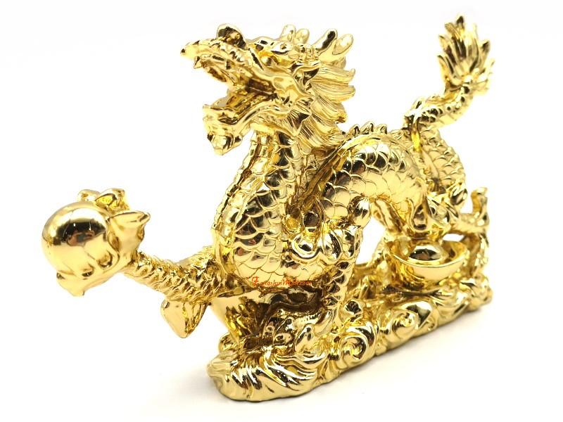 Golden Dragon Grasping Ball :: Feng Shui Product