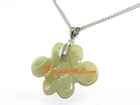 Jade Mystic Knot Necklace
