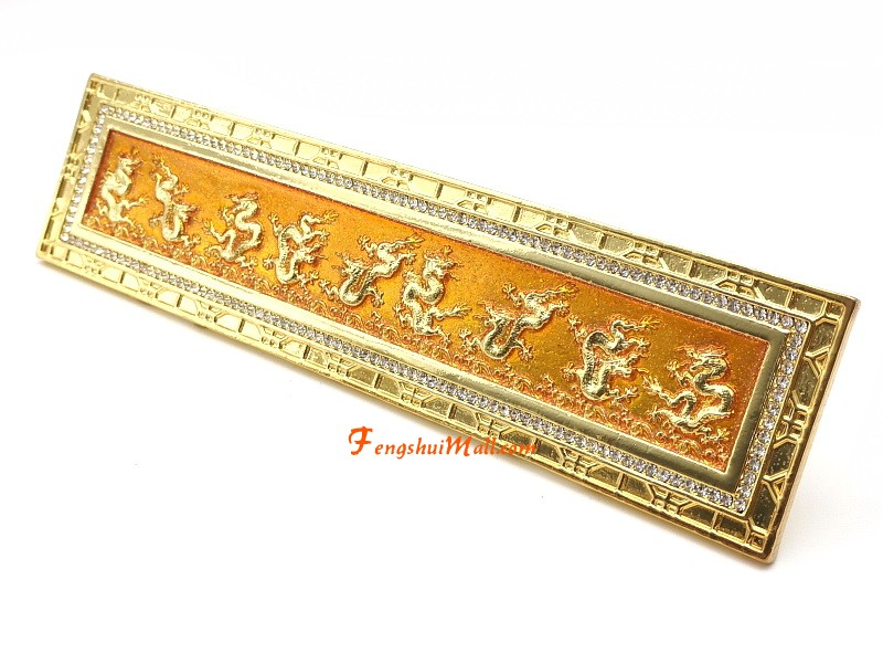 Feng Shui Nine Golden Dragon Plaque