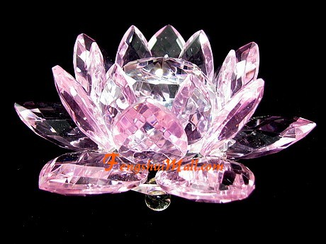 Crystal Feng Shui Lotus Flower Pink Feng Shui Shop