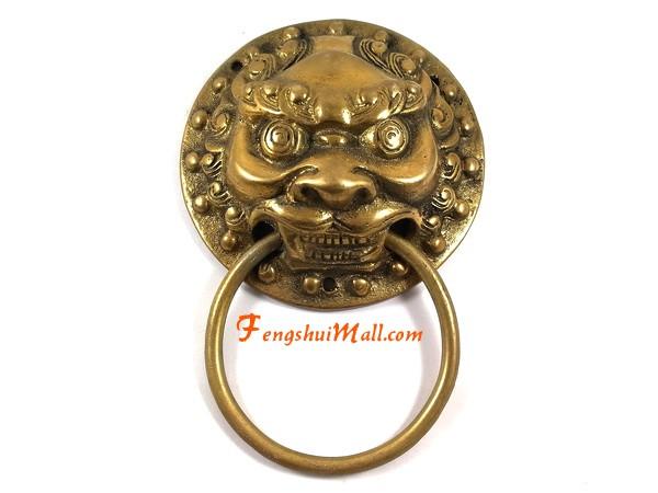Two Moustaches Brass Bull Head Door Knocker