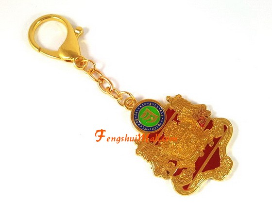 Wealth And Success Amulet Keychain Feng Shui Prosperity Symbol