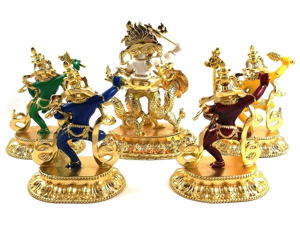 White Dzambala and the Four Dakinis :: Feng Shui 2018 for Wealth