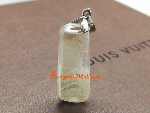 White Phantom Quartz Crystal Pendant :: Natural Healing