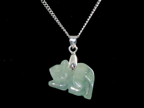 Jade Chinese Horoscope Animal Pendant - Rat