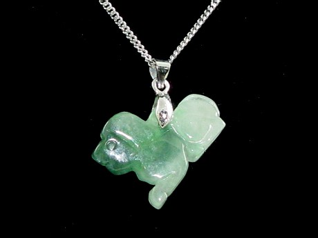 Jade Chinese Horoscope Animal Pendant - Dog