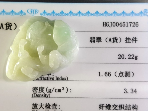 Certified Grade A Natural Jadeite Pi Yao Pendant