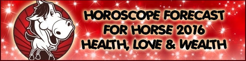 2016 Feng Shui Horoscope Update for Horse