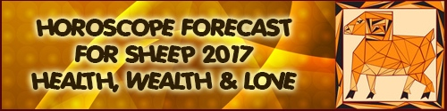 2017 Horoscope Feng Shui Forecast for Sheep